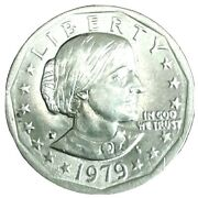 1979-p Susan B Anthony Dollar Wide Rim Near Date Very Nice Coin