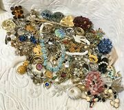 Big Vintage And Costume Jewelry Lot Incl. Quality Pieces Signed And Sterling