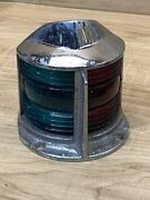 Vintage Abw Bow Light 1950and039s Navigation Nautical Boat Green And Red Lens 8020-2