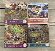 Jigsaw Puzzles Lot Of 4-used/perfect Condition 31000 Pc., 1 750 Pc.