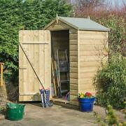 Rowlinson Oxford Shiplap Shed 4x3 Natural Timber With Additional Lean-to
