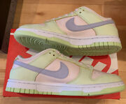 Nike Womens Dunk Low - Lime Ice Size 6w/4.5m Light Green Pink Purple