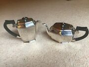 A Lovely Pair Of Antique Epns A1 Silver Tea And Coffee Pots