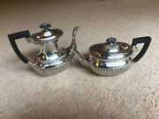A Lovely Pair Of Antique Silver Epns Tea And Coffee Pots Hallmarked