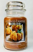 1 Village Candle Pumpkin Donuts Large 2-wick Classic Jar Candle 21.25 Oz