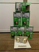 Nos Sears Decorative Global Casters Mounting Hardware Plated Polished Brass B,