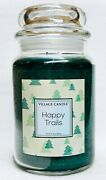 1 Village Candle Happy Trails Large 2-wick Classic Jar Candle 21.25 Oz
