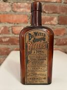 Antique Dewitts Stomach Bitters Tonic Bottle E.c.dewitt Chicago With Full Label