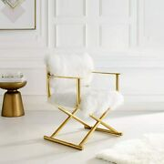 Modway Action Pure Cashmere Accent Director's Chair, Gold White