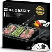 Taranzy Fish Grill Basket Stainless Steel Grilling Removable Handle