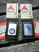 Vintage Zippo Lighters Boxed Never Used Us Pacific Fleet And Seabees Pwd
