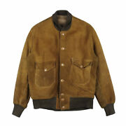 A-1 Type Leather Jacket Pachipoke Suede Brown Menand039s Outwear 30s Vintage Used