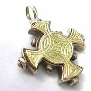 Konstantino Pendant Or Charm 18kt And Sterling Silver 1.125 Long