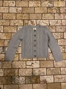 Mini Boden Girls Grey Cable Cardigan Sweater 5-6 Years Nwot