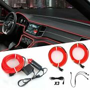 Red Led Car Interior Accessories Floor Decorative Atmosphere Wire Lamp Lights