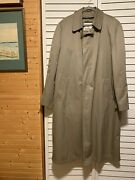 Vintage London Fog Menand039s 44 Long Overcoat Trench Coat With Liner Tan Beige Vguc