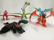 How To Train Your Dragon Large Lot Of 5 Toy Dragon Figures With Moving Parts