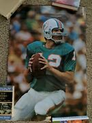 1973 Bob Griese Dolphins Poster Studio One Sports Illustrated Misspelled Name