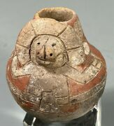 Pre Columbian Peru South Coast Paracas Figural Lime Pottery Container 800-100 Bc