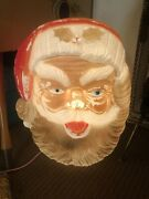 Vintage Giant Santa Claus Face Light Up 22andrdquo Rare Holiday Blow Mold Tested