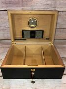 Cigar Humidor Daniel Marshall Matte Black Holds Up To 125 Cigars 1995 Ambiente