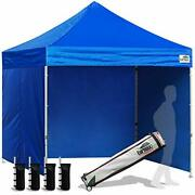 Eurmax 8'x8' Ez Pop-up Canopy Tent Commercial Instant Canopies With 4 Removable