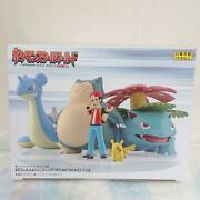 Pokemon Scale World Kanto Red And Snorlax Figure New 1/20 Scale Pocket Japan