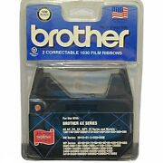 2 Brother Typewriter 1230 Black Correctable 1030 Film Ribbons Brother Ax Series
