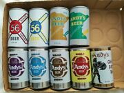 X9 Different Andy's Beer Cans Straight Steel August Schell New Ulm Minnesota