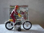 Bultaco Alpina Friction Drive Toy Book/brochure New In Box Year 1970's