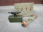 Us Army Corp Young And Sons Transit W/ Wooden Box Wood Plane Table W/ Tripod Bags
