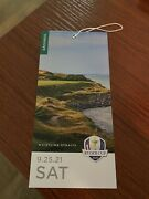 Ryder Cup 2021 Ticket - Saturday 9/25. Overnight Shipping