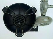 Vintage Blacksmith Antique Forge Furnace With Hand Blower Fan Pedal Type Handle