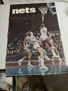 Vintage American Basketball Association Official Poster. Nets / Colonels Rare