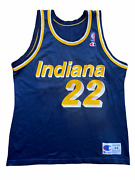 Vintage Rare Champion Demon Bailey Indiana Pacers Jersey Nba Blue Mens 44