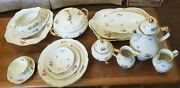 Rosenthal Flower Bed China Service For 12 With 10 Serving Pieces