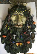Huge Vintage Rare Mario Chiodo Forest Wizard Mask Halloween Latex Mask - New