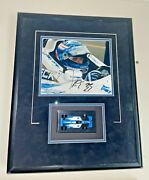 Alex Taglianni Framed Autographed Photo With Exact Replica Of Race Car 1/64