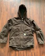 Vintage Jacket C26 Dkb Duck Chore Coat Quilted Mens Large Tall