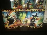 Franklin Mint Wizard Of Oz Wicked Witch 3 Ceramic Screen Scenes Pamphlet Coa Lot