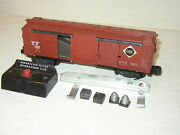 Rare American Flyer 25042 Erie Operating Box Car Trip Button Milk And Luggage Load