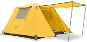Kazoo Family Camping Tent Large Waterproof Pop Up Tents 3/4 Person Room Cabin Te
