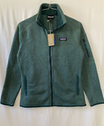 139 Womenandrsquos Better Sweater Jacket Small Green Nwt Auth