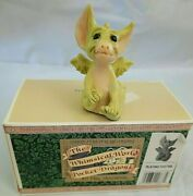 Whimsical World Of Pocket Dragons - Playing Footsie - New In Bow - Signed 9/95