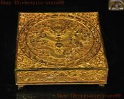 Old Chinese Dynasty Bronze 24k Gold Gilt Dragon Board Game Chess 32 Xiangqi Set