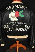 Rare 6th Arty Vintage 1958-1960 Satin Embroidered Souvenir Jacket Size Large