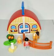 Playmobil Take Along Horse Farm Set Stable Barn Excellent 1-2-3 Missing 1 Pc