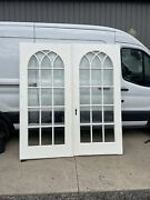 An 661 Antique Gothic Beveled Glass French Doors 6 X 80 X1.75
