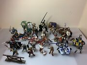 Schleich And Papo Lot, Medieval Figures Knights Fantasy Horses Toys Archers Dragon