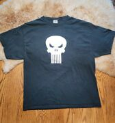 Vintage 2000 Marvel Comic Punisher Black Xl Graphic T Shirt Delta Pro Weight Tag
